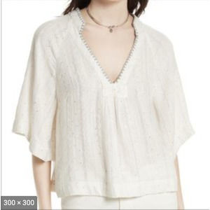 """Free People """"Get Over It"""" Sequin Oversized Tunic S"""